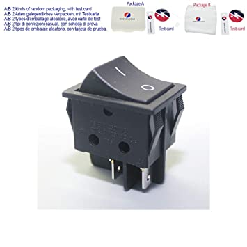 Amazon.com: 2 Position 16A Rocker Switches 250V T125 AC 125V ...
