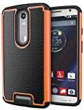 DROID Turbo 2 Case, Cimo [Shockproof] Case Heavy Duty Shock Absorbing Dual Layer Protection Cover for Motorola Verizon DROID Turbo 2 / Moto X Force (2015) - Orange