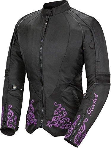 Heart Textile Jacket Motorcycle - Joe Rocket Heartbreaker 3.0 Women's Textile Street Motorcycle Jacket - Black/Purple / Small