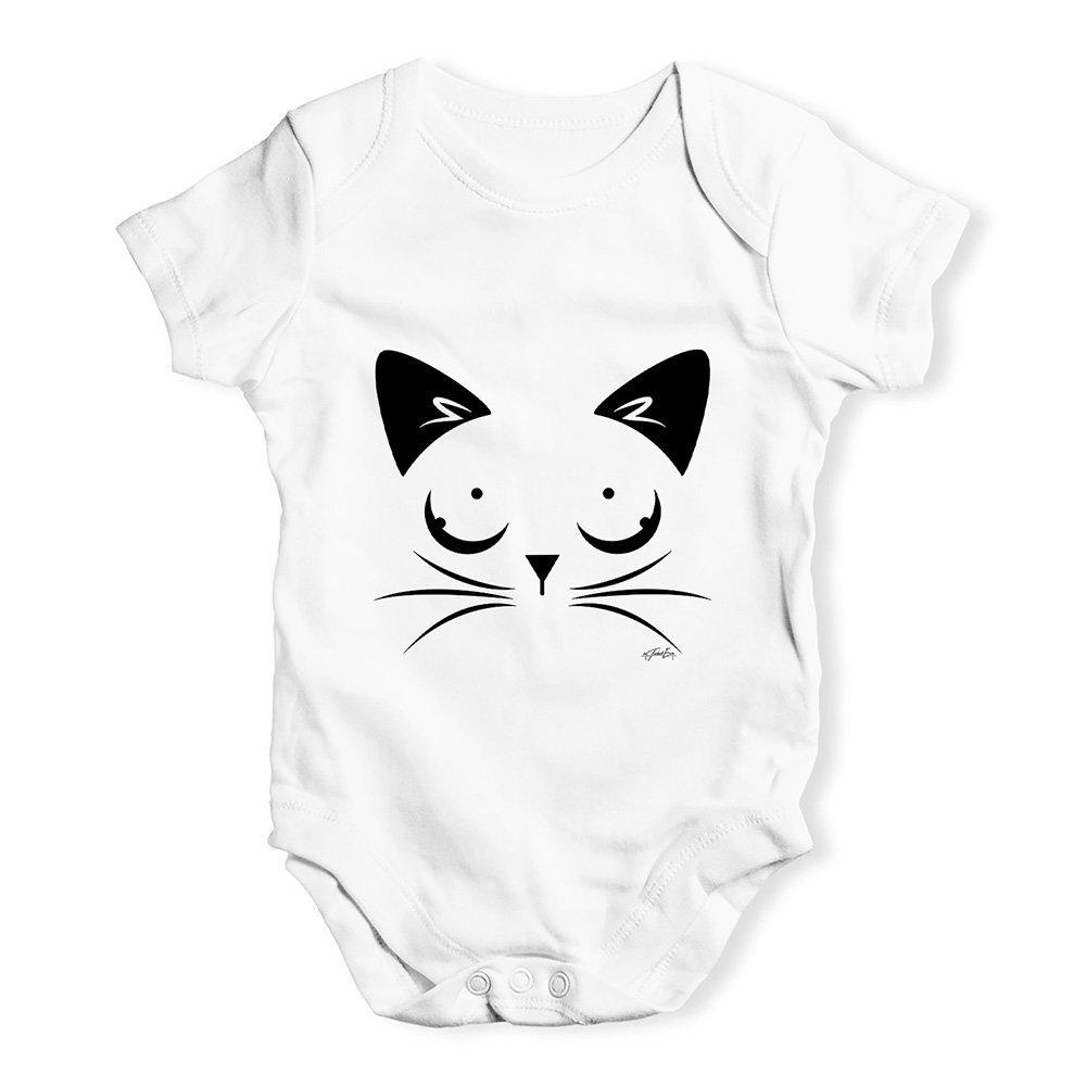 TWISTED ENVY Bodysuit Baby Romper Cat Eyes