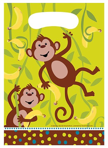 (Creative Converting 085692 Monkeyin Around Plastic Loot Bags 96 Counts)