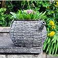 Kingfisher Wicker Teapot planter