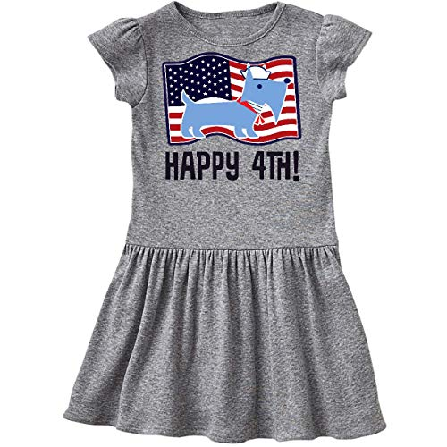 inktastic - Happy 4th of July Scottie Infant Dress 18 Months Heather Grey 3634a ()
