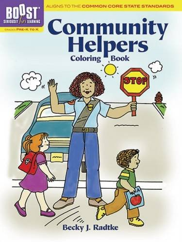 BOOST Community Helpers Coloring Book (BOOST Educational Series)