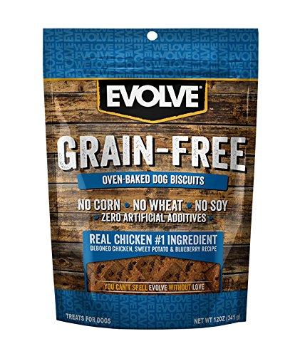 Evolve Oven Baked Grain Free Deboned Chicken Biscuits, 12oz