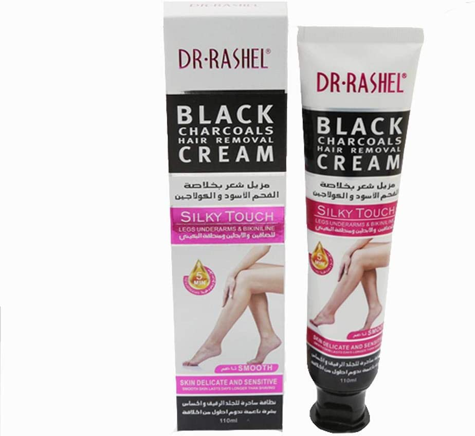 Dr Rashel Black Charcoals Hair Removal Cream Silky Touch 110ml