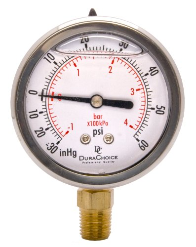 "2-1/2"" Oil Filled Vacuum Pressure Gauge - Stainless for sale  Delivered anywhere in USA"