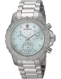 Womens Swiss Quartz Stainless Steel Casual Watch, Color Silver-Toned (Model: 2600128