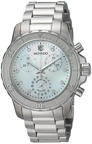Movado Women's Swiss Quartz Stainless Steel Casual Watch, Color Silver-Toned (Model: 2600128)