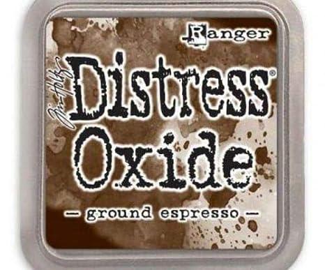 Distress Cojín de óxido molido Espresso, Ranger, 5 x 5 cm ...