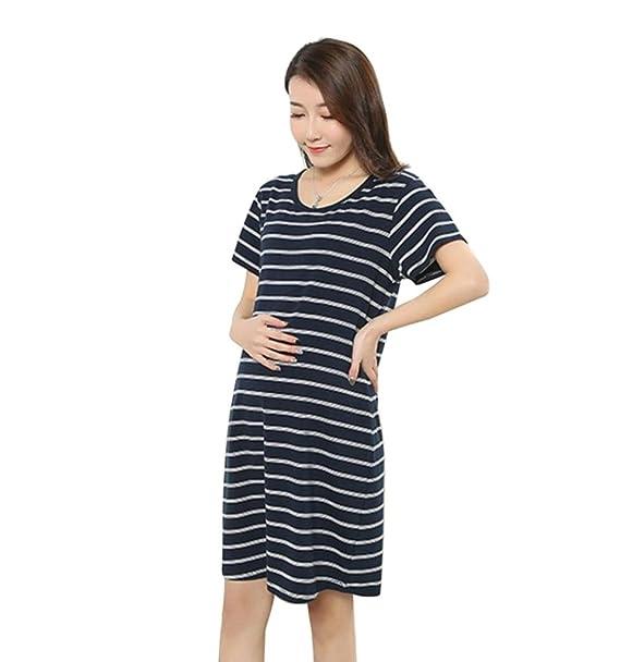 Ropa Embarazadas Verano AIMEE7 Vestido De Manga Corta A Rayas De Maternidad: Amazon.es: Ropa y accesorios