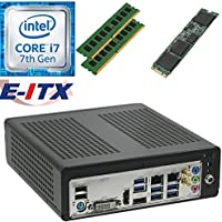 E-ITX ITX350 Asrock H270M-ITX-AC Intel Core i7-7700 (Kaby Lake) Mini-ITX System , 8GB Dual Channel DDR4, 120GB M.2 SSD, WiFi, Bluetooth, Pre-Assembled and Tested by E-ITX