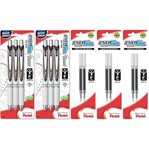 Pentel EnerGel Deluxe Liquid BLN75WBP3A