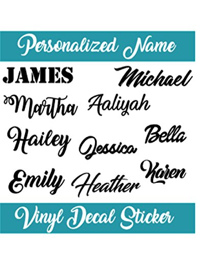 Personalized Name Decal Sticker I Yeti Rambler Decal Tumbler Cup Name Decal ()