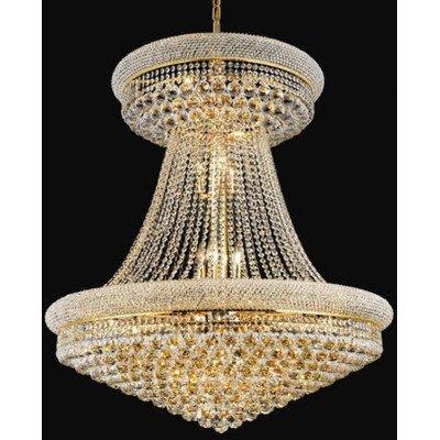"Elegant Lighting Primo 36"" 28 Light Elegant Crystal Chandelier"