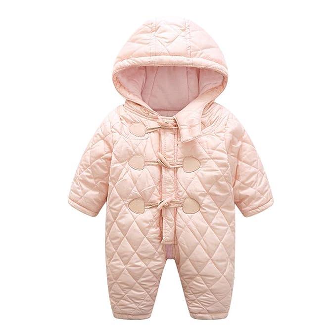 Hzjundasi Ropa Bebe Invierno - Bebé Niños Niñas Peleles Mameluco con Capucha Mono Ropa Pijamas Cremallera 0-24 Meses: Amazon.es: Ropa y accesorios
