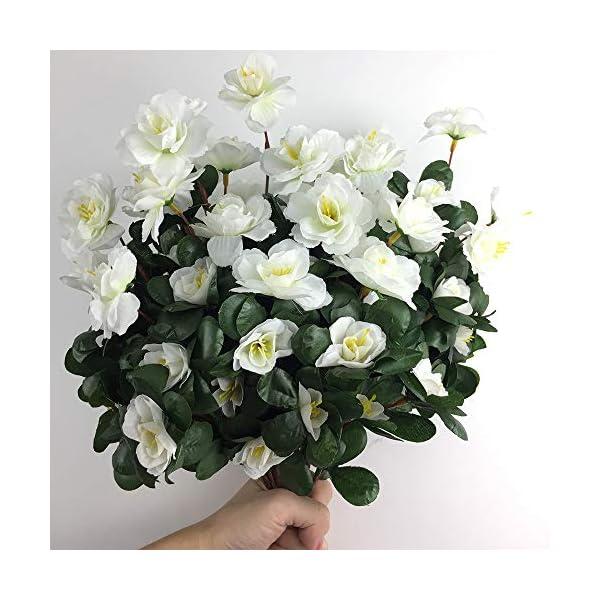 Lopkey-Outdoor-Indoor-Silk-Flower-Artificial-Red-Azalea-Bush-4pcs