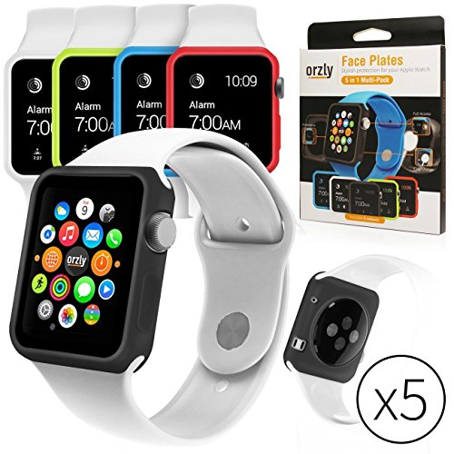 Orzly Interchangeable Silicon Gel Covers for Apple Watch (38 mm) - Pack of 5 - Assorted Colors