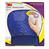 3M Precise Mousing Surface with 3M Gel Wrist Rest Blue Water Design   8.71 in x 9.21 in
