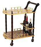Product review for Uniquewise(TM) 2-Tier Serving Tea Cart, Gold Marble Finish