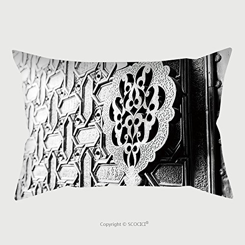 Custom Satin Pillowcase Protector Detail Of An Islamic Door Knocker And Ornaments Outside One Of The Main Entrance Gates To The 336366656 Pillow Case Covers Decorative by chaoran
