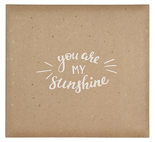MCS MBI 13.5x12.5 Inch 'You are My Sunshine' Scrapbook Album with 12x12 Inch Pages (Baby Girl 12x12 Album)