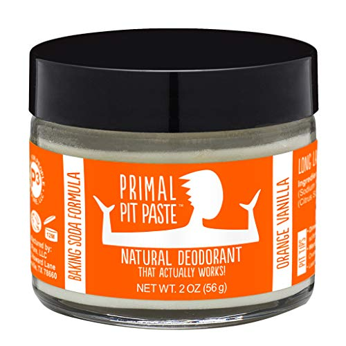 Primal Pit Paste All Natural Orange Creamsicle (Orange Vanilla) Deodorant | 2 Ounce Jar | Aluminum Free, Paraben Free | for Women and Men of All Ages | Non-GMO, Cruelty Free, Earth Friendly, BPA Free