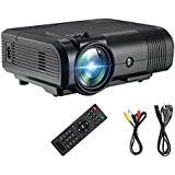 Projector DIWUER Video Mini Movie Projector Full HD 1080P LCD Home TV Theater Led Portable Multimedia Game Projector for PC iPhone Smartphone PS4 PS3 Support Amazon Fire TV Stick HDMI VGA USB AV TF