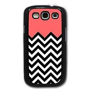 Bereadyship For Galaxy S3 Case - Coral Plus Chevron for Samsung Galaxy i9300 Case Snap On Case
