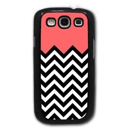 Bereadyship For Galaxy S3 Case - Coral Plus Chevron for Samsung Galaxy i9300 ...