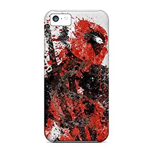 EMs2856cIZV Tpu Phone Case With Fashionable Look For Iphone 5c - Deadpool Art