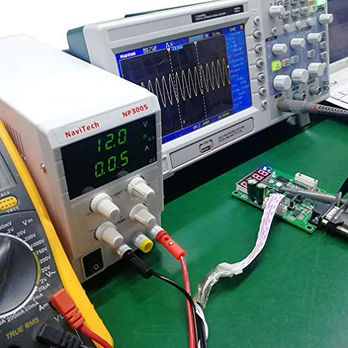 30V 5A DC Bench Power Supply Variable, 3-Digital LED Display, Switching Power Supply with Free Alligator Clip US Power Cord by NaviTech (Image #5)