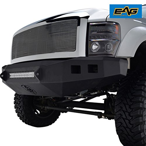 Engine Turned High Polish - EAG 08 09 10 Ford Super Duty Chrome Billet Grille Front Upper Replacement with ABS Shell