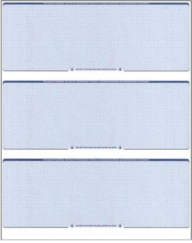 Middle Business Check - Business Voucher Checks Stock - Computer Laser Checks - 3 Checks Per Page, 100 Sheets/300 Checks, Blue Diamond