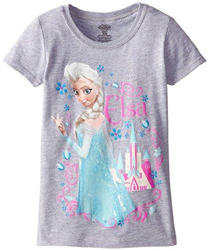 Disney's Frozen Youth Girl's Elsa T-Shirt - Heather Grey (Lrg 12/14)