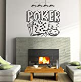 Playing Cards Poker Playing Chips Kids Room Children Stylish Wall Art Sticker Decal G8553