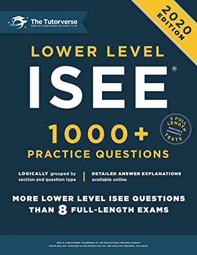 Lower Level ISEE: 1000+ Practice Questions (Best Math Websites For Middle School)