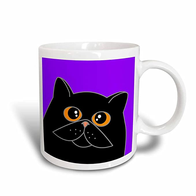 Buy 3drose Mug 31210 3 The Curious Cat Black With Orange Eyes Purple Magic Transforming Mug 11oz Online At Low Prices In India Amazon In