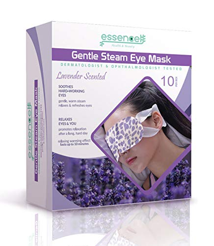 Heat Eye Mask for Sleeping, Dry Puffy Eyes, Dark Circles, Heated Eye Mask for Travel, Spa Stye treatment,Disposable - Lavender Scented Eyes Mask