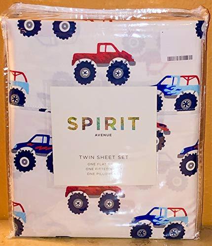 Spirit Avenue Monster Trucks Sheet Set - Twin Size (Monster Trucks Bedding Set)