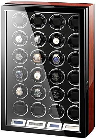 LSRRYD ワインディングマシーン 腕時計自動巻き器 24本巻き上げウォッチワインダー LCDタッチディスプレイLEDライト付き 超静音リモコン付き 高級