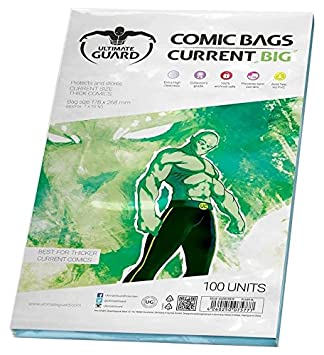 Ultimate Guard Bolsas para cómics,, Grandes (Actuales ...