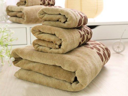 MAZIMARK--LUXURY TOWEL SET 100% PURE EGYPTIAN COTTON FACE, HAND, BATH TOWELS LEOPARD