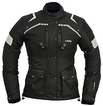 LOVO Chaqueta 3/4 para moto (Mujer) (S)