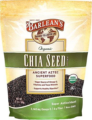 Barlean's Non-GMO Organic Chia Seed, 12 Ounce