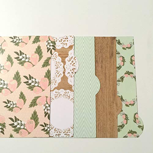 A5, Personal or Pocket Filofax Planner Dividers - Florals & Doilies!