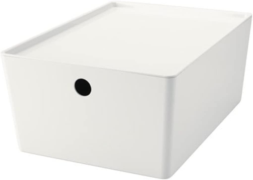 IKEA Kuggis Box with Lid White Size 10 ¼x13 ¾x6602.802.05