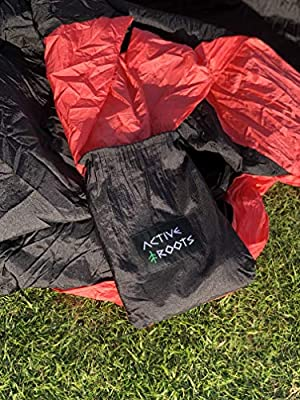 Parachute Nylon Lightweight Hammock for Backpacking Active Roots Double Camping Hammock with Tree Straps Outdoor Travel Portable Hammock Indoor