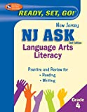 NJ ASK Grade 4 Language Arts Literacy, Research & Education Association Editors, 0738607983
