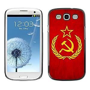 TopCaseStore / la caja del caucho duro de la cubierta de protección de la piel - Soviet Union USSR Grunge Flag - Samsung Galaxy S3 I9300